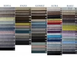 Wzorniki tkanin Dallas, Modest, Enduro, Orlean