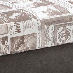 NEWSPAPER 1890 + SUEDINE CIEMNY BRĄZ
